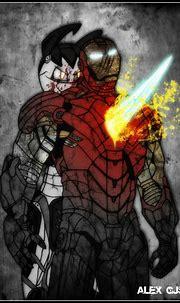 Iron Man VS XJ-9 by GodzillaJAPAN on DeviantArt