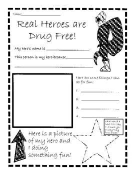red ribbon week real heroes are drug free tpt red
