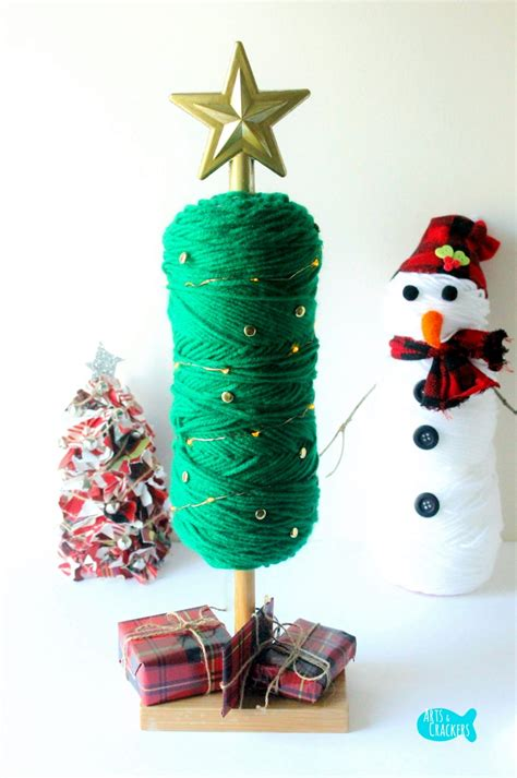 easy  sew diy yarn christmas tree holiday home decor