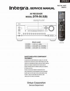 Integra Dtr 50 5 A  V Receiver Service Manual   Schematics