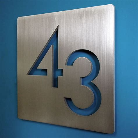 Apartment Number Canada by Custom Modern 9 Quot Square Floating House Numbers Stainless
