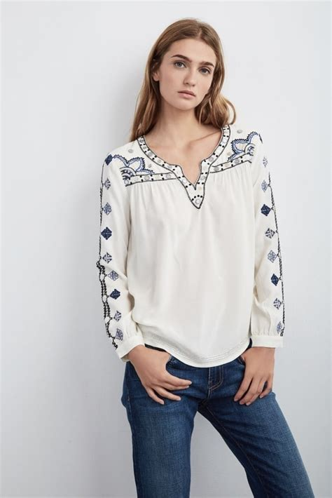 Embroidered Velvet Top velvet chantel embroidered top in at sue parkinson