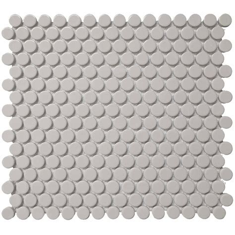 Roca Color Collection Mosaics 12 x 12 Grey Penny Round