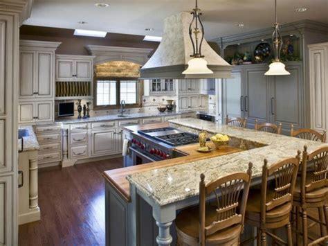 L shaped kitchen island with raised bar   Kitchen ideas