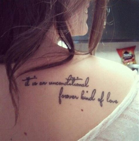 cute shoulder tattoo mother daughter quote