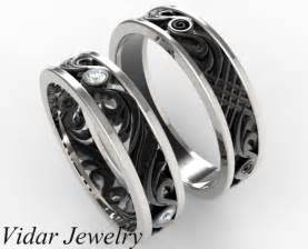 his and hers matching wedding band set vidar jewelry