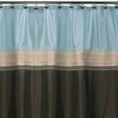 brown and blue shower curtain buy brown blue shower curtain from bed bath beyond