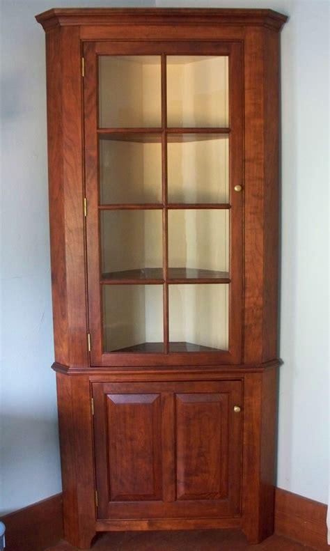 corner cupboard  cherry corner china cabinets corner
