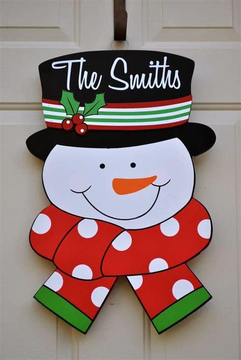 personalized snowman walldoor hangermade  hand
