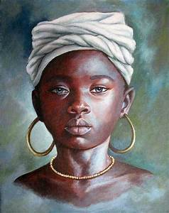 Black Art African American Young Woman   Black Art   Pinterest