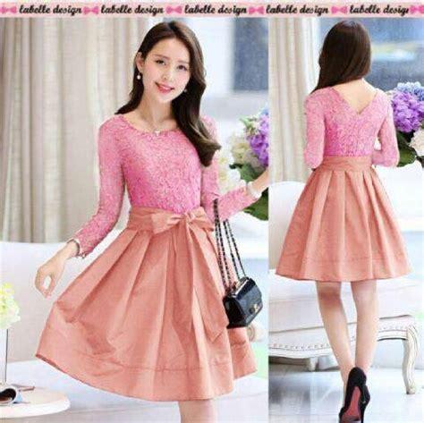 jual vello dress peachy dress brokat mini dress