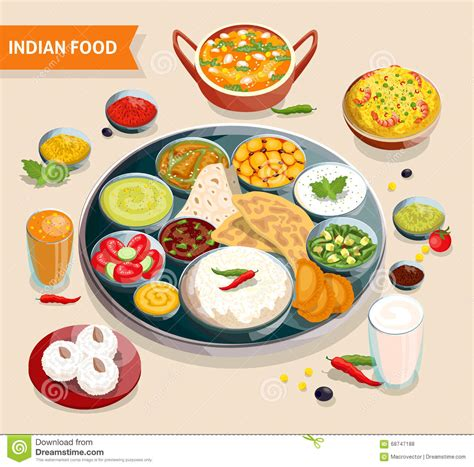 composition cuisine indian food composition stock vector illustration of