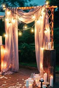 22 wedding ceremony aisles and backdrops with lights
