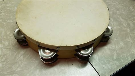 """Tambourines are often used with regular percussion sets. Vintage Ludwig Tambourine 10"""" 1960s   Reverb"""
