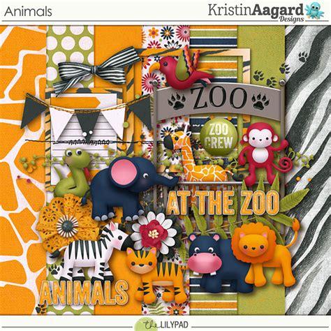 digital scrapbook kit animals kristin aagard
