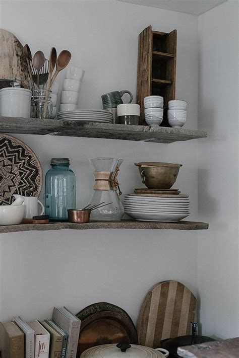 diy open kitchen shelving  reclaimed wood  daily