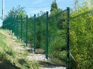 Cloture Exterieur Rigide : cl ture rigide en pente slope fence pinterest ~ Edinachiropracticcenter.com Idées de Décoration