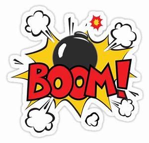 """COMIC BOOK: BOOM BOMB!"" Stickers by MDRMDRMDR Redbubble"