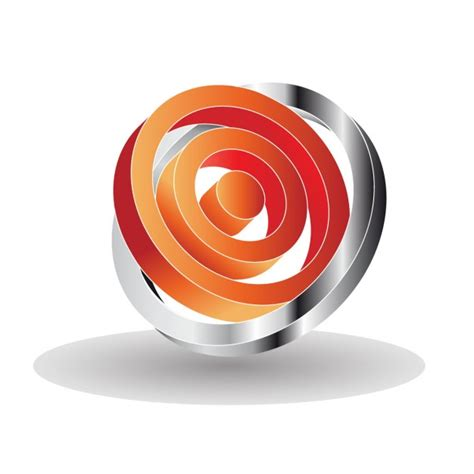Logo 3d by 3d Logo With Circles Vector Free