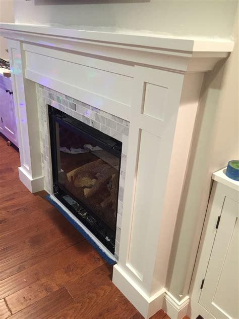 build  shaker fireplace mantel  surround