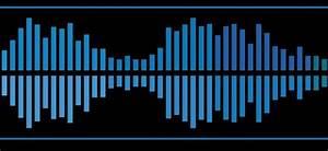 Audio waves and signals vectors