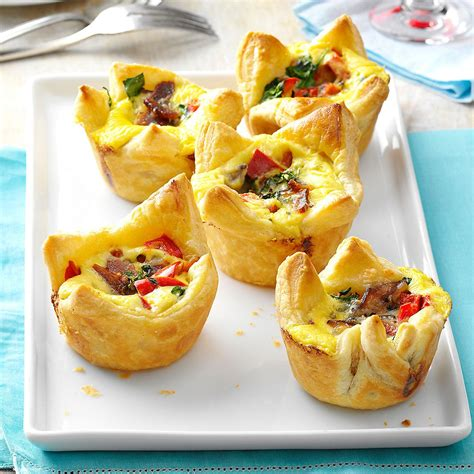 puff pastry canapes ideas quiche pastry cups recipe taste of home