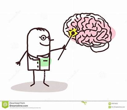 Neurologist Cartoon Brain Neurological Vector Illustration Clip
