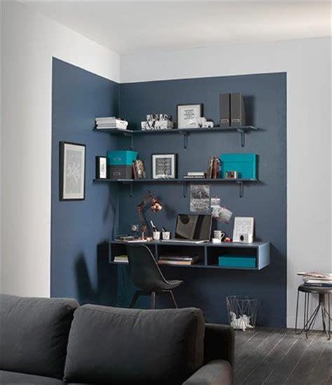 idee peinture bureau professionnel coin bureau mis en lumi 232 re par 1 couleur diff 233 rente chambre ado coin bureau d 233 co