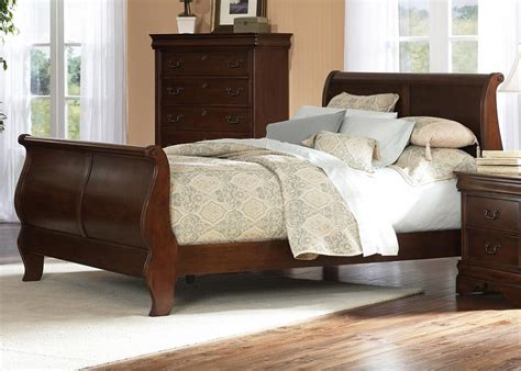 furniture sleigh bed cherry wood bedroom furniture sets bedroom furniture