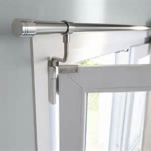 Support Rideau Fenetre Pvc by 2 Supports Sans Percage Pour Fenetres Chris 216 20 Mm Chrome