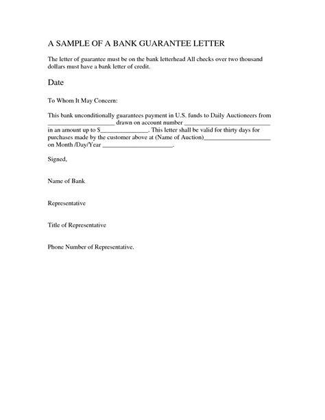 guarantee cheque letter sample