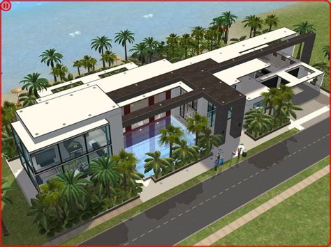sims 2 modern beach house by ramborocky the sims house