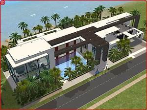 sims 2 modern beach house by ramborocky the sims house With sims 2 house decorating ideas