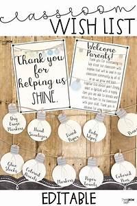 Classroom Wish List Light Bulbs