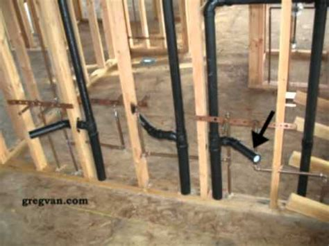 double bathroom sink   rough plumbing drain