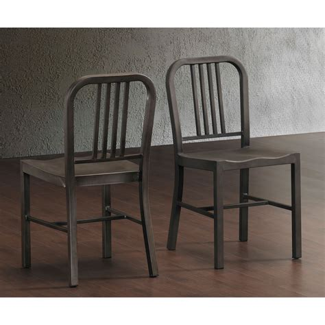vintage metal side chairs set of 2 dining kitchen room