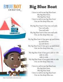 Nursery Rhymes That Rhyme by Big Blue Boat Nursery Rhyme Lyrics Free Printable Nursery
