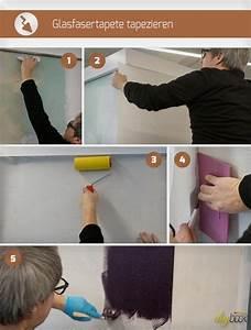 Vinyltapete Tapezieren Tipps : glasfasertapete tapezieren und streichen tapezieren w nde und lesen ~ Markanthonyermac.com Haus und Dekorationen