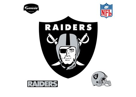 peel and stick wall oakland raiders logo wall decal shop fathead for