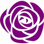 Purple Icons Rose Icon Flower Custom