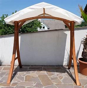 design hollywoodschaukel gestell quotkuredo arubaquot aus holz With whirlpool garten mit balkon ohne dach regenschutz