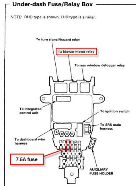 97 Honda Accord Fuse Box Location by 97 Accord Heat Stay On Honda Tech Honda Forum Discussion