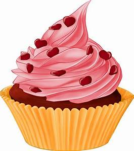 Cartoon Cupcake Heart Topping transparent PNG - StickPNG