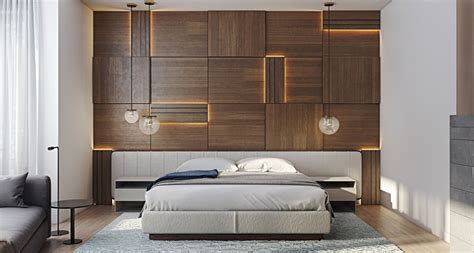 Concrete Feature Wall Panels Artful Design Ideas For Bedroom by Wooden Wall Designs 30 Striking Bedrooms That Use The