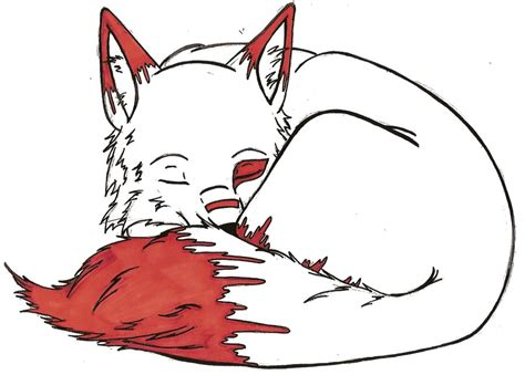 Sleeping Wolf Colored By Darkkairi777 On Deviantart