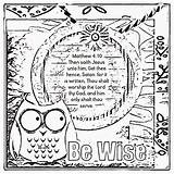 Wisdom Coloring Sheets Proverbs Treasure Bible Gems Sheet Christian Children sketch template
