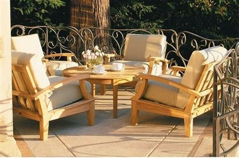pc teak wood deep seat garden outdoor patio sofa set