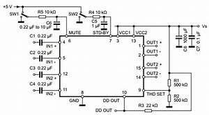 Tda7376b Typical Application Reference Design