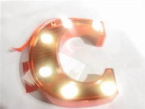 new trimmerry red letter initial monogram c lighted lights With lighted letter ornaments