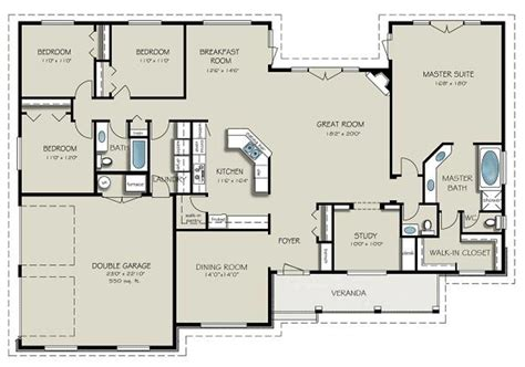 4 bedroom country house plans country style house plan 4 beds 3 baths 2563 sq ft plan